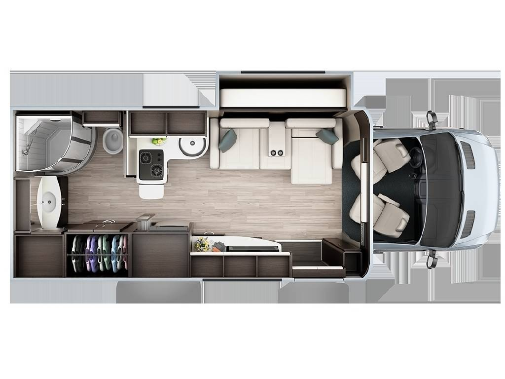 2020 Leisure Travel Vans Unity Mb Murphy Bed B Van Fretz